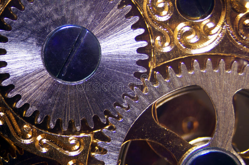 Clockwork. Micro photo of a clockwork royalty free stock photo