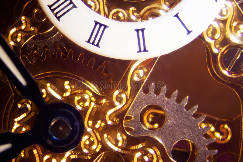 Clockwork. Micro photo of a clockwork royalty free stock photos