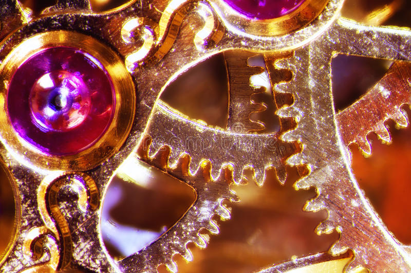 Clockwork. Micro photo of a clockwork royalty free stock photography