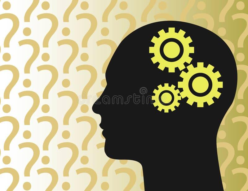 Download Clockwork mind stock vector. Image of decision, consider - 4844208