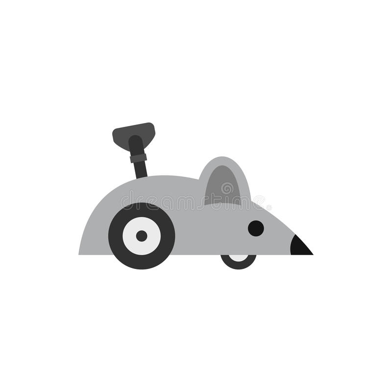 Clockwork mouse icon, flat style. Clockwork mouse icon in flat style isolated on white background. Toy symbol vector illustration royalty free illustration