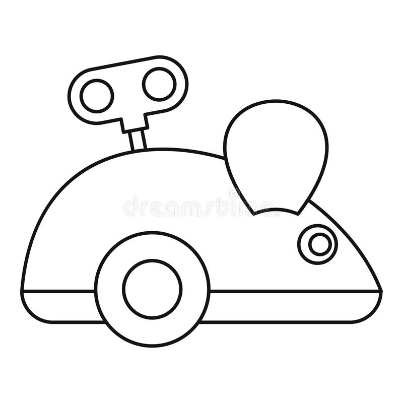 Clockwork mouse icon, outline style. Clockwork mouse icon. Outline illustration of clockwork mouse vector icon for web design royalty free illustration