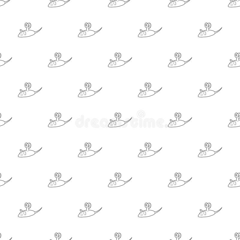 Clockwork mouse icon, outline style. Clockwork mouse icon in outline style isolated on white background. Toy symbol royalty free illustration