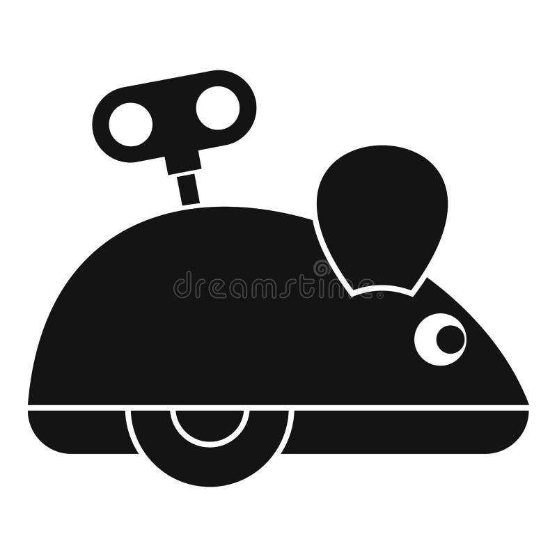 Clockwork myszy ikona, prosty styl ilustracji