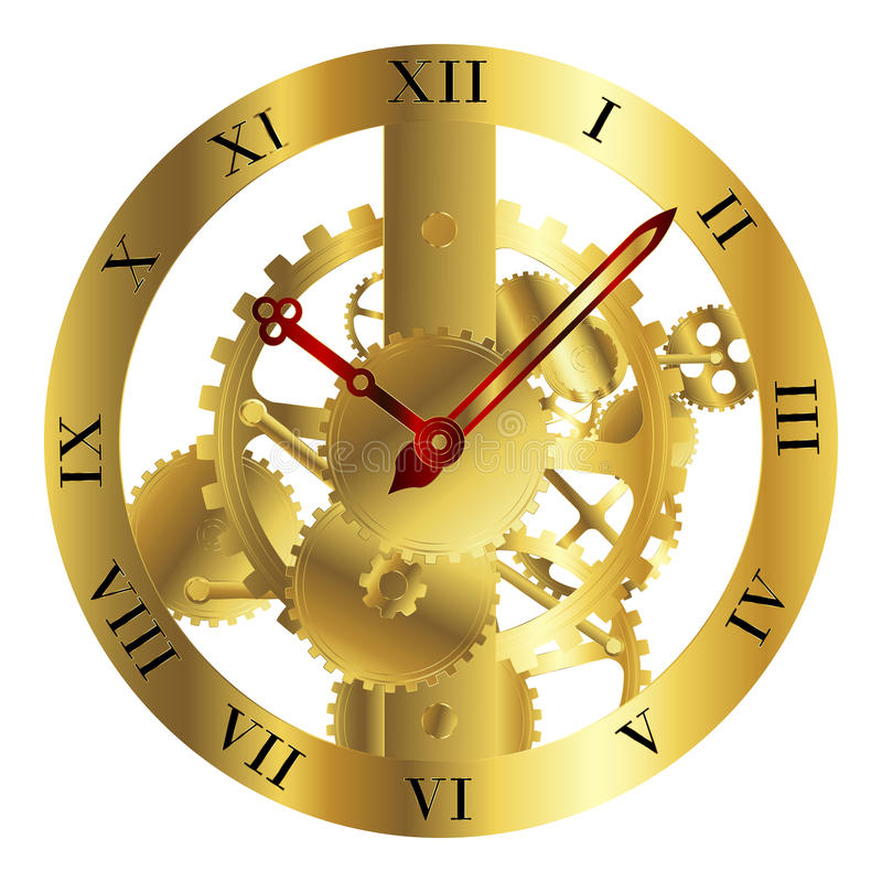 clockwork projekt royalty ilustracja