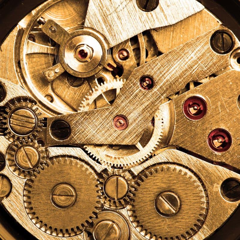Clockwork of wristwatch royalty free stock photos