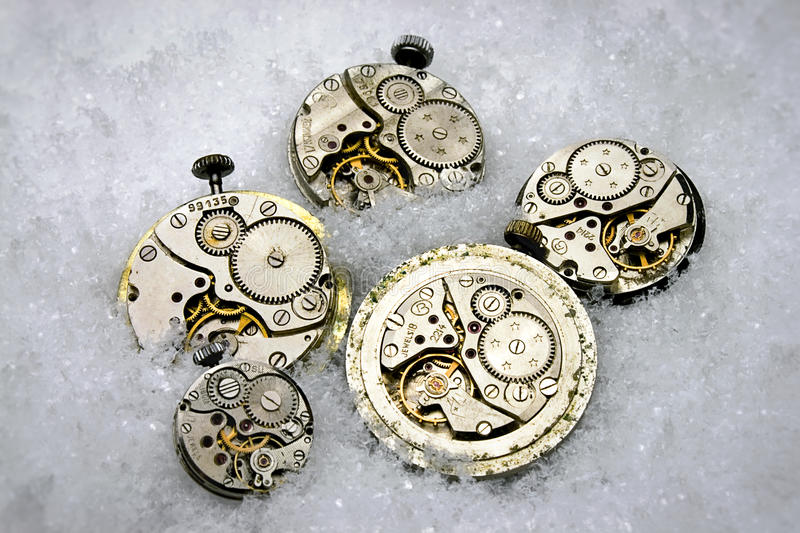 Clockworks stock photo