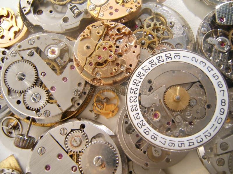 Clockworks background stock photography