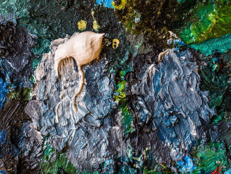 Clodseup提取油漆背景和纹理在paette的 皇族释放例证