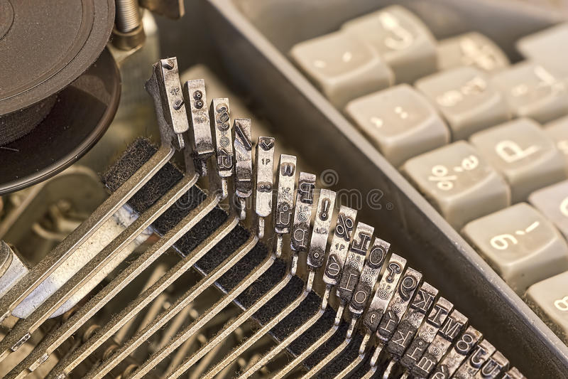 Download Cloe-επάνω της εκλεκτής ποιότητας γραφομηχανής Στοκ Εικόνες - εικόνα από πληκτρολόγιο, ήπια: 62716890