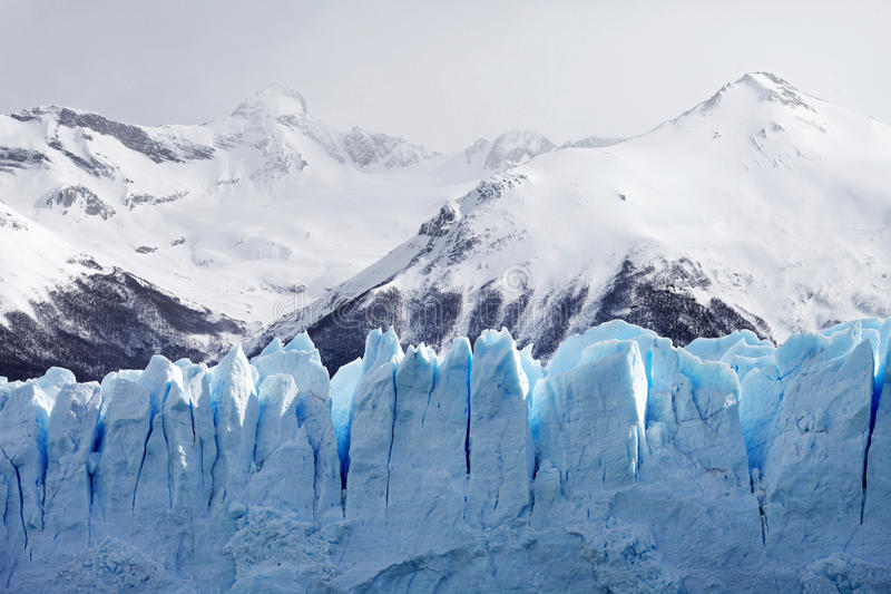 Download Cloeup Of Glacier With Mountains In Background Stock Image - Image of texture, iceberg: 39674699