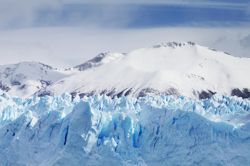 Download Cloeup Of Glacier With Mountains In Background Stock Image - Image: 39674783