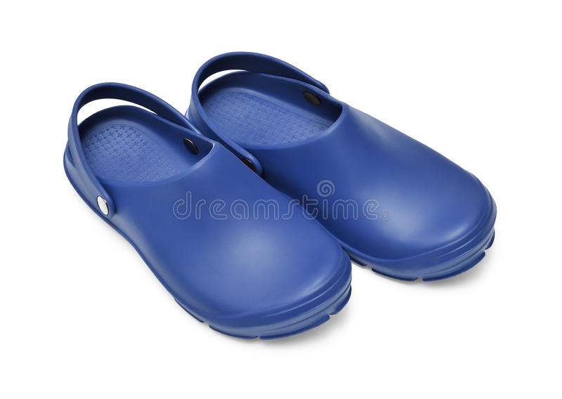 Crocs dark blue royalty free stock photos