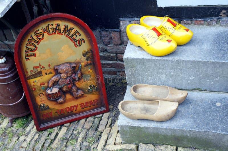 Clogs. In Zaanse Schans ethnographic museum in Netherlands stock image