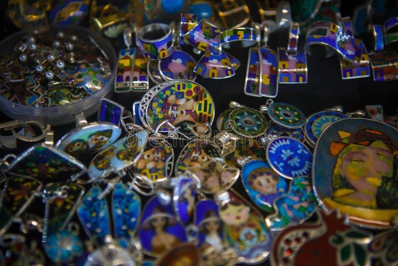 Cloisonne email-zilveren juwelen van Georgië royalty-vrije stock foto's