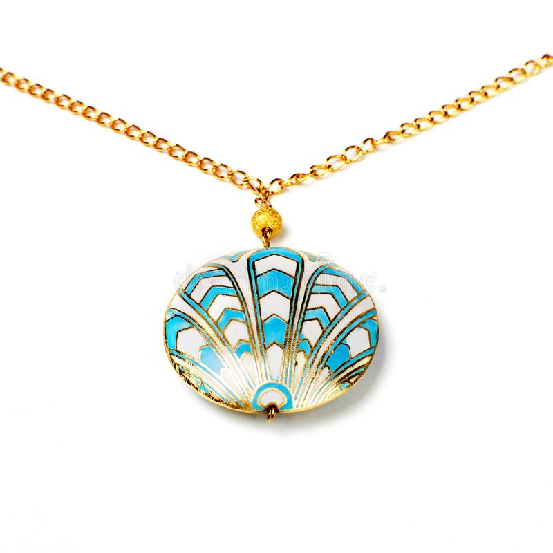 Cloisonne pendant royalty free stock photography