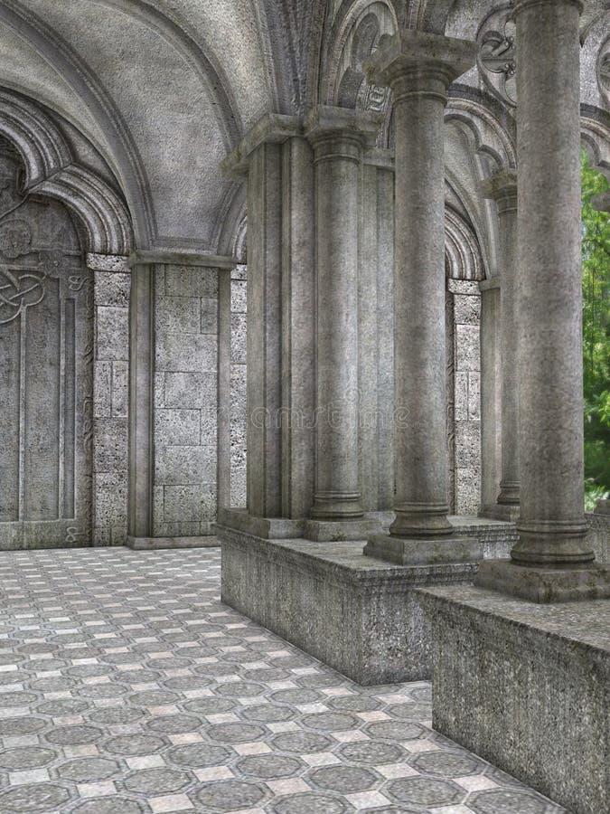 cloister stock illustrationer