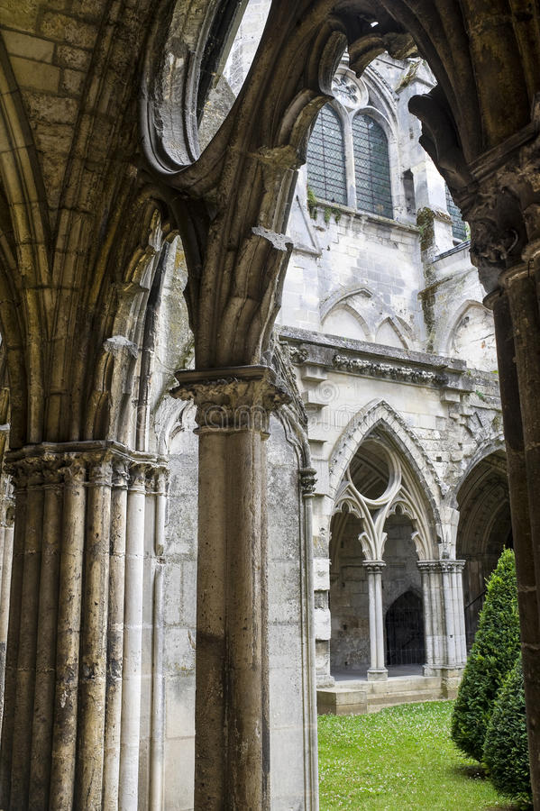 Download Cloister Of Abbey In Soissons Stock Image - Image: 27513129