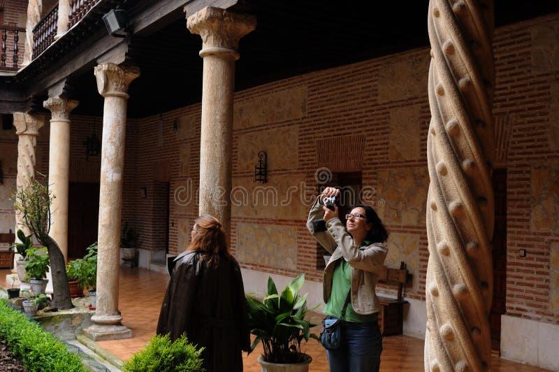 CLOISTER.Alcala de Henares.SPAIN стоковое фото