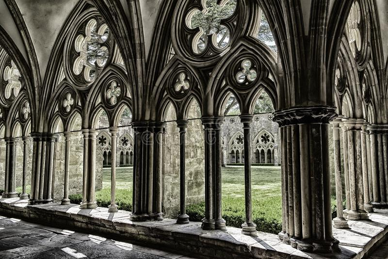 Cloister Salisbury Cathedral royalty free stock photography