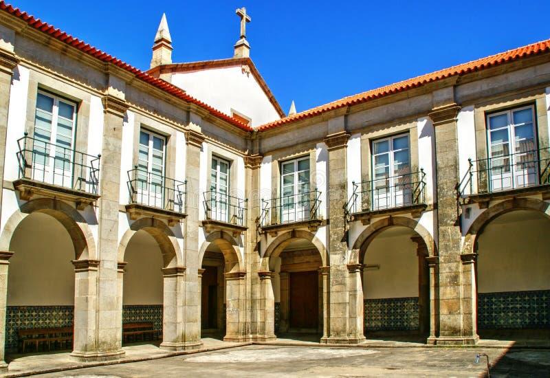 Cloister of Loios convent in Santa Maria da Feira stock photos