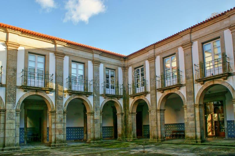 Cloister of Loios monastery in Santa Maria da Feira. Portugal stock image
