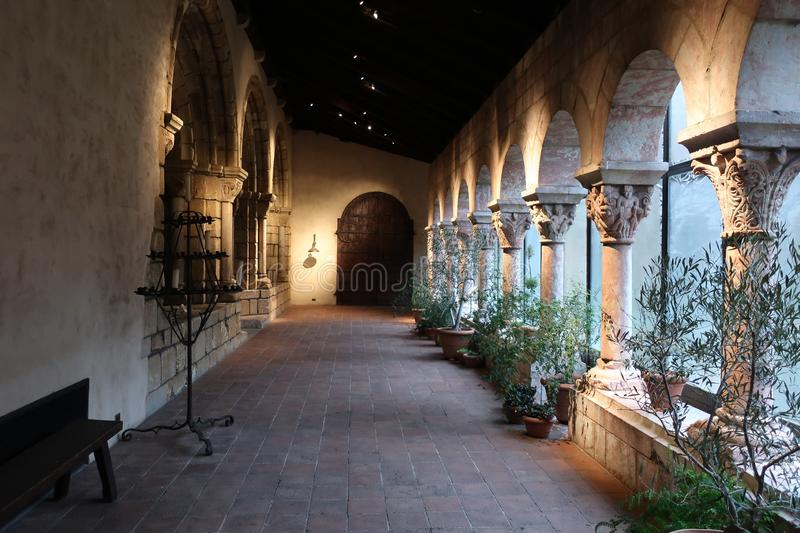 The Cloister in the Met Cloisters. New York City, NY stock photo