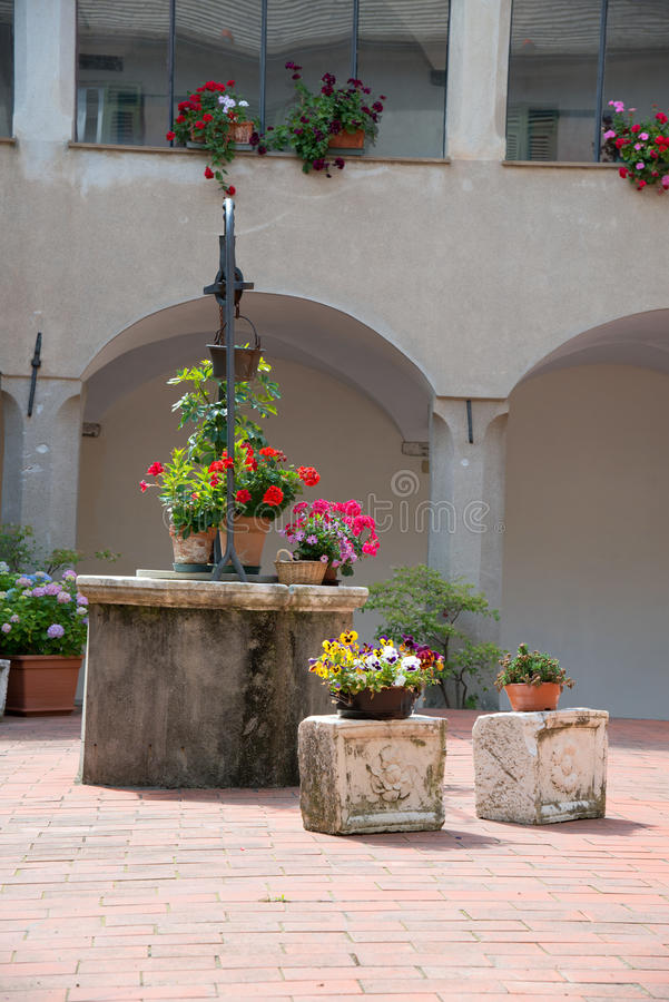 Download Cloister of the monastery stock photo. Image of prayer - 41658810