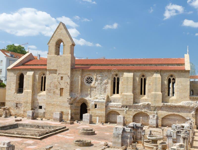 Cloister Santa Clara, Coimbra royalty free stock photos