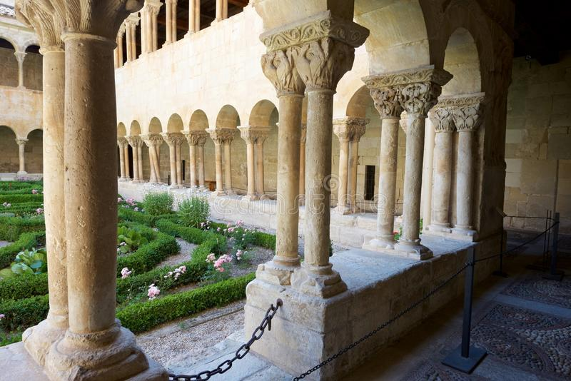 Santo Domingo de Silos. Cloister of Santo Domingo de Silos, Burgos, Castilla Leon, Spain stock photos