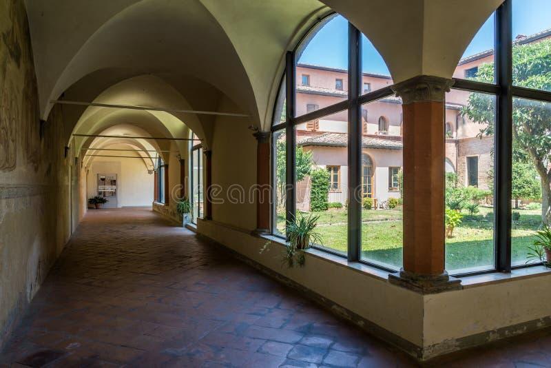 Cloister Siena stock photos