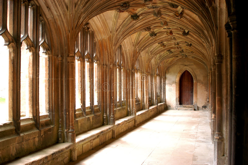 Cloisters royalty free stock photography