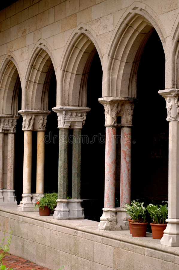 cloisters obrazy royalty free