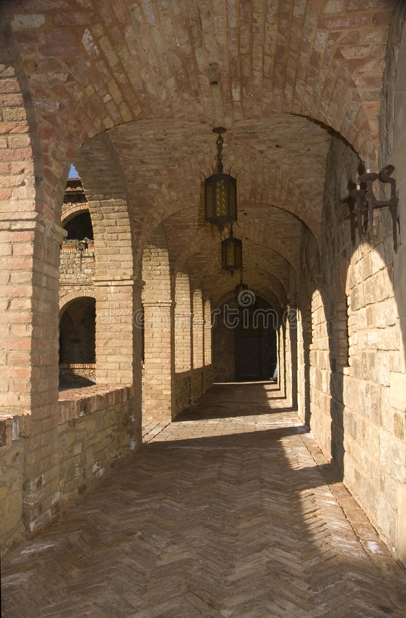 Download Cloisters Around The Courtyard Stock Image - Image: 4774719