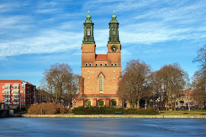 Cloisters Church (Klosters kyrka) in Eskilstuna. At evening, Sweden royalty free stock images