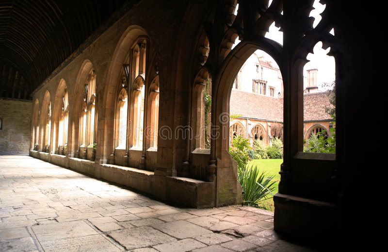 cloisters college Oxford nowy fotografia stock