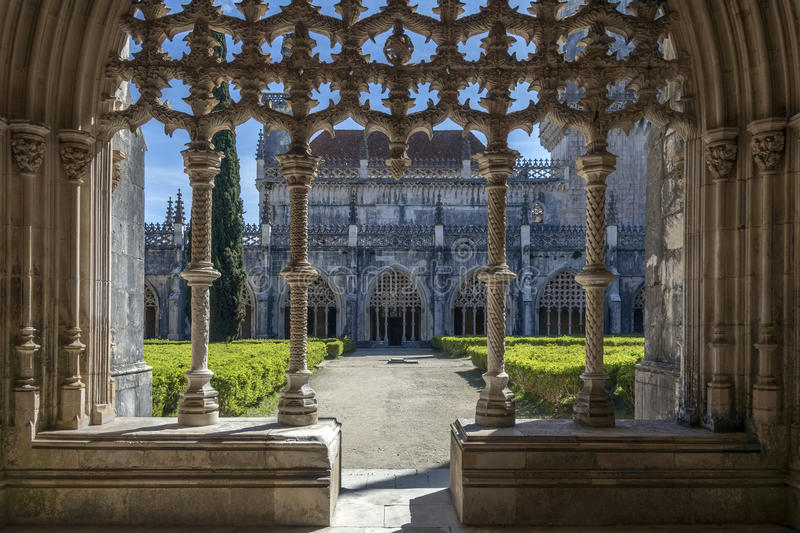 Cloisters in the Monastery of Batalha - Portugal stock photo