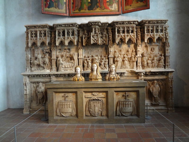 The Cloisters Museum And Garden 307. He art and architecture of medieval Europe, was assembled from architectural elements, both domestic and religious, that stock photo