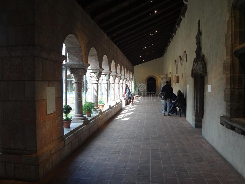 The Cloisters Museum And Garden 241. He art and architecture of medieval Europe, was assembled from architectural elements, both domestic and religious, that royalty free stock photo