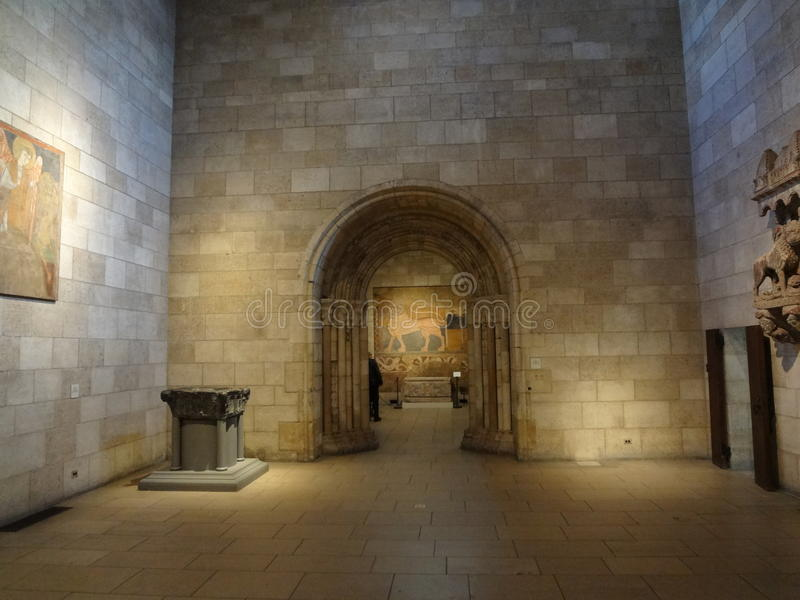 The Cloisters Museum And Garden 270. He art and architecture of medieval Europe, was assembled from architectural elements, both domestic and religious, that royalty free stock photography
