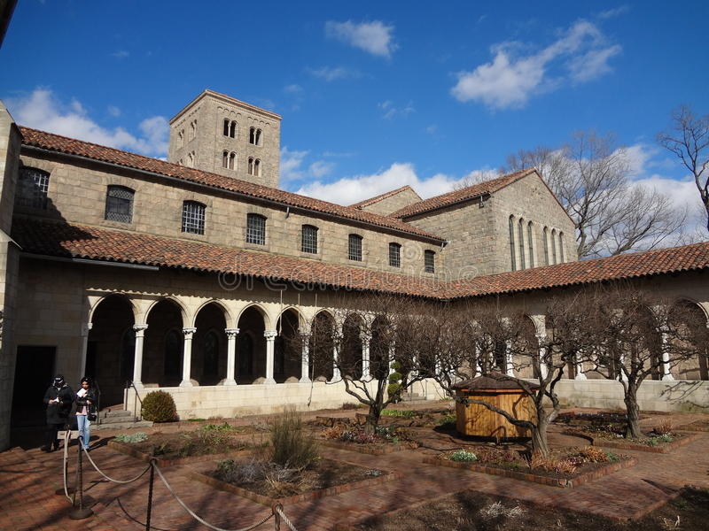 The Cloisters Museum And Garden 280. He art and architecture of medieval Europe, was assembled from architectural elements, both domestic and religious, that stock photos
