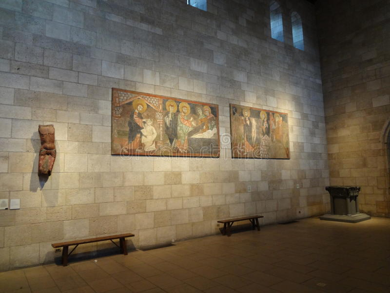 The Cloisters Museum. And gardens, the branch of The Metropolitan Museum of Art devoted to the art and architecture of medieval Europe, was assembled from royalty free stock photography