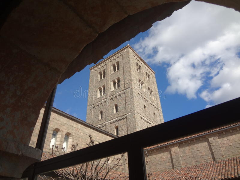 The Cloisters Museum. And gardens, the branch of The Metropolitan Museum of Art devoted to the art and architecture of medieval Europe, was assembled from stock image