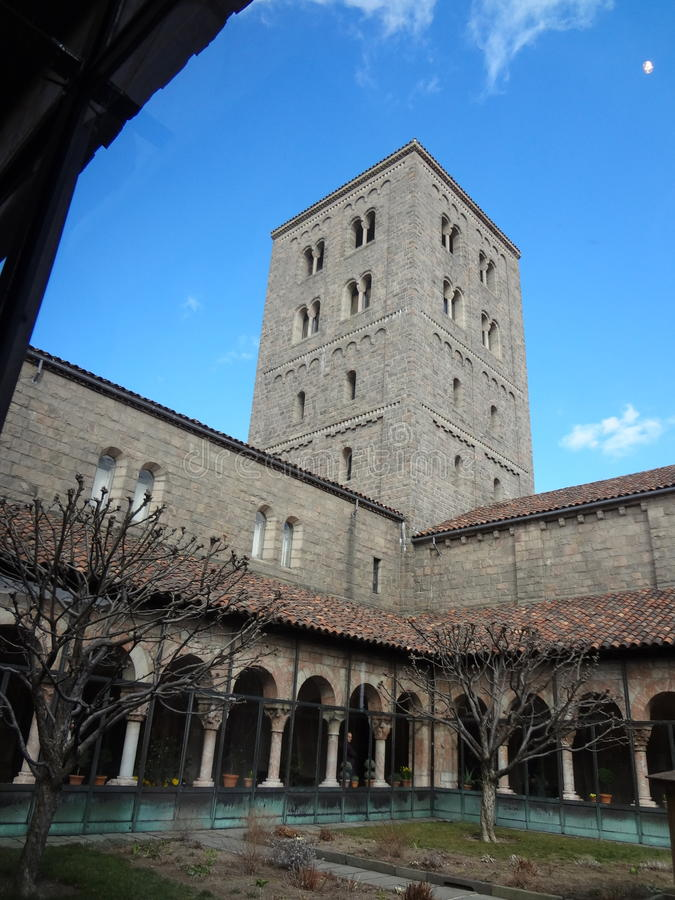 The Cloisters Museum. And gardens, the branch of The Metropolitan Museum of Art devoted to the art and architecture of medieval Europe, was assembled from royalty free stock photos