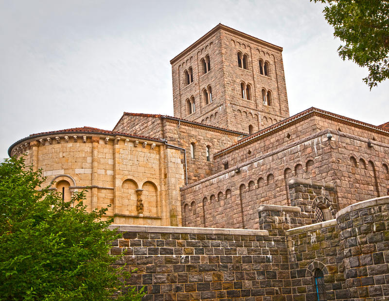 The Cloisters. New York, NY - JUNE 24: The outside of The Cloisters museum, a branch of the Metropolitan Museum of Art on June 24th, 2012 stock photo