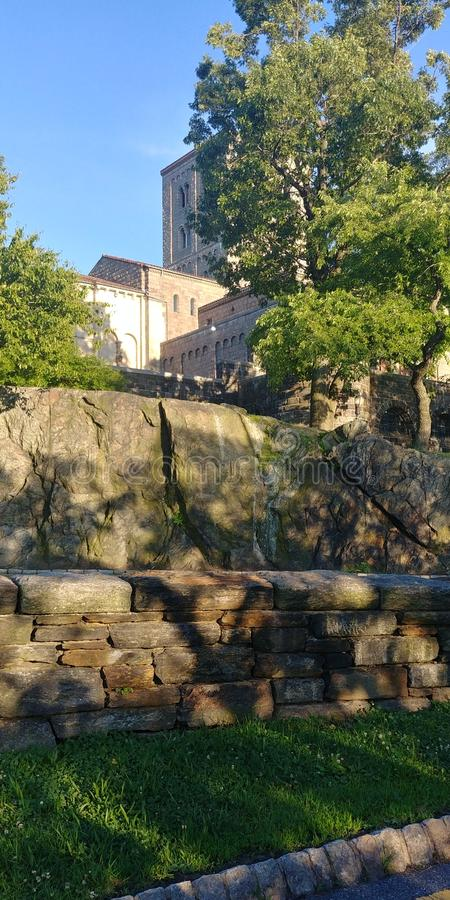 The cloisters NYC. Park, history, green, summer stock photos