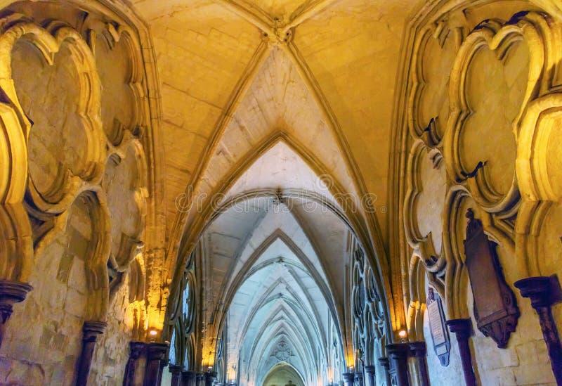Cloisters wnętrze Wysklepia opactwo abbey Londyn Anglia fotografia royalty free