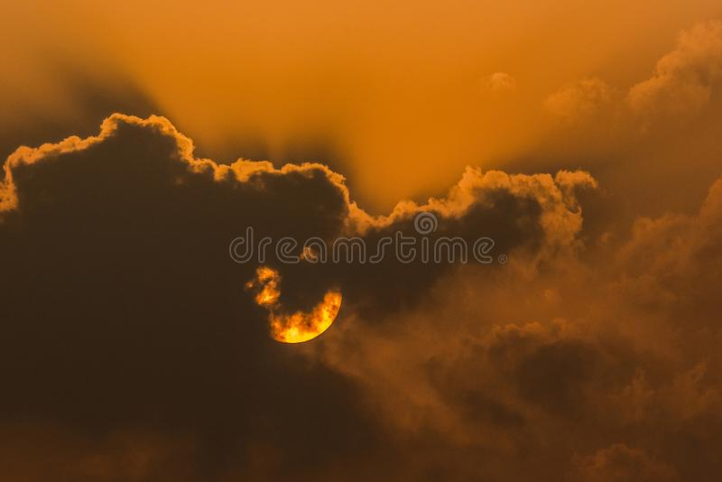 The Sun and clouds royalty free stock photography