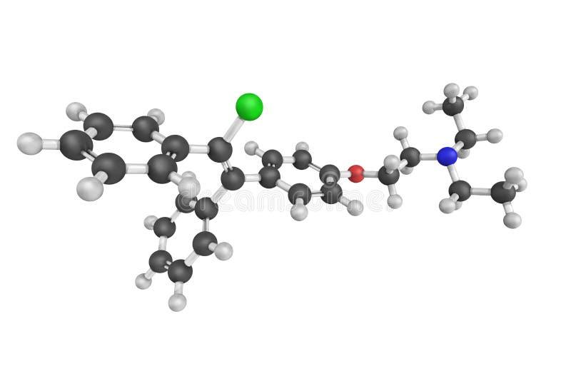 Clomifene, die ook als clomiphene, een medicijn wordt dat wordt gebruikt bekend om te behandelen royalty-vrije stock afbeelding