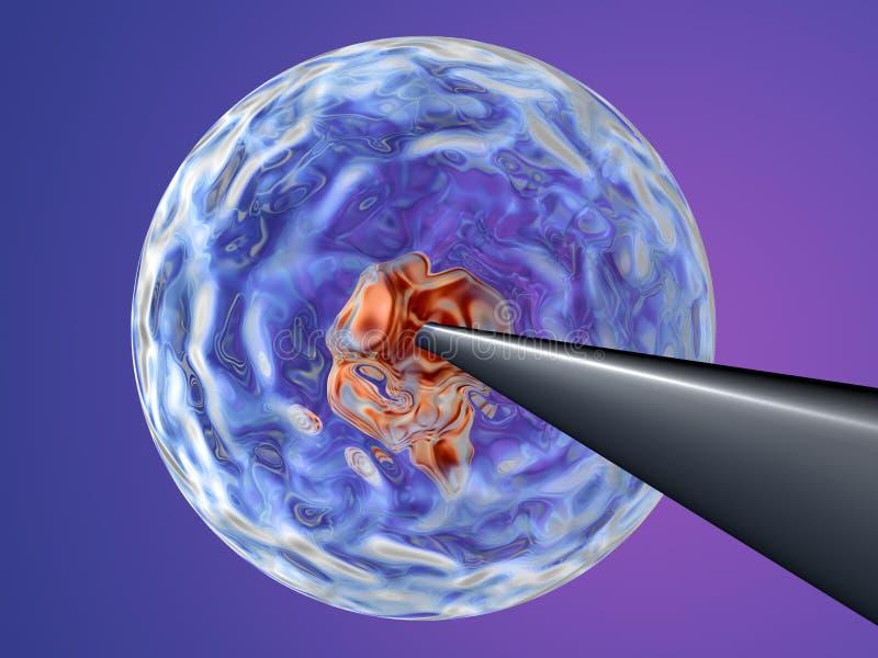 Clonar - injetando ADN 2 ilustração do vetor